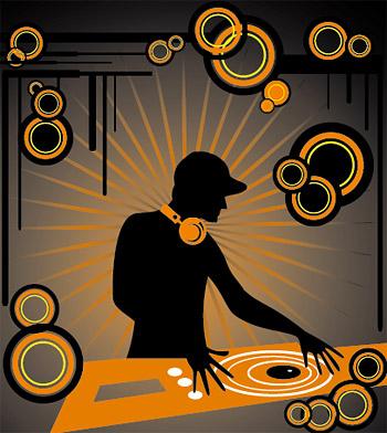 DJ воспроизведения музыкальных компакт-дисков тенденция