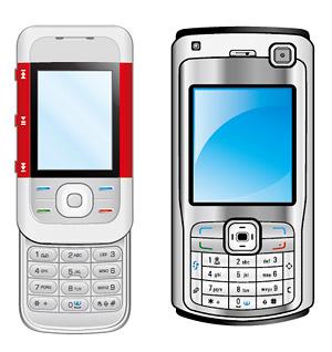 โทรศัพท์ทั้งสอง vector วัสดุ