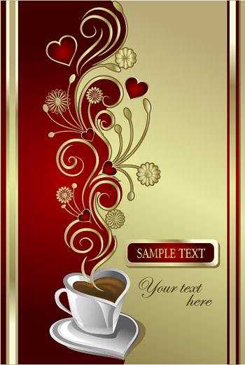 Vektor materiell Liebe Kaffee