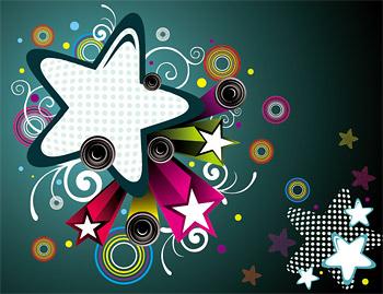 Elementos de diseño de la tendencia de las estrellas