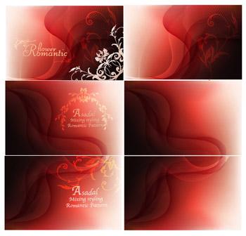 Patrones de fondo rojo de fantasía