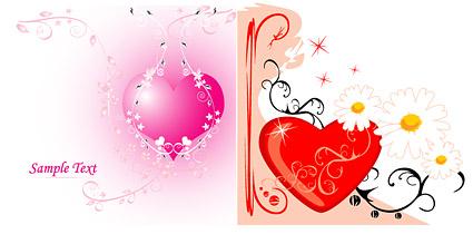 사랑 및 패턴 벡터 자료