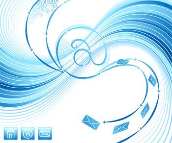 送信する電子メールの動的の青色のテーマ