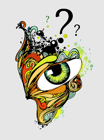 Ojos de ilustraciones abstracto