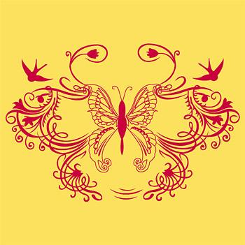 蝶とツバメ