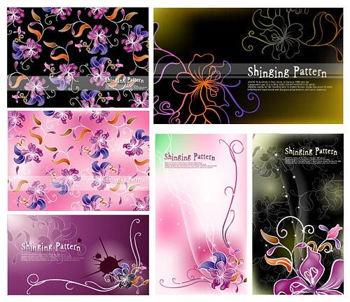 Material de antecedentes de flores de fantasía de vectores