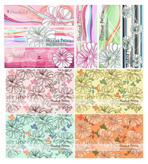 Arrière-plan de fleur de style belle