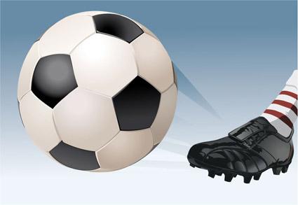 Игра футбол векторного материала