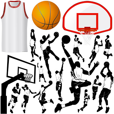 Elementos de baloncesto del tema