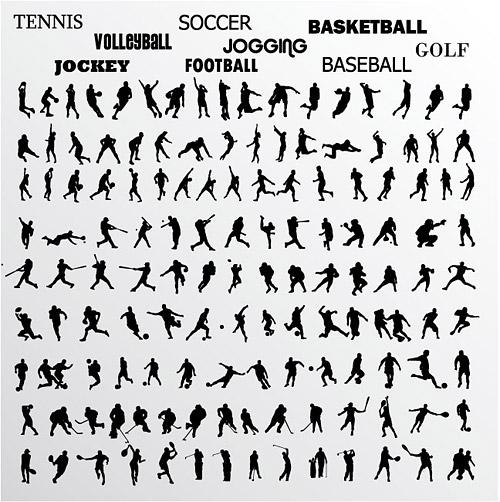 様々 な選手のアクション写真