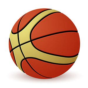 Un matériau de vecteur de basket-ball