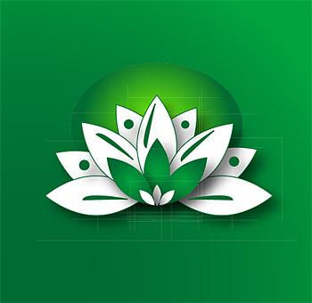 Material de gráficos de vectores de Lotus