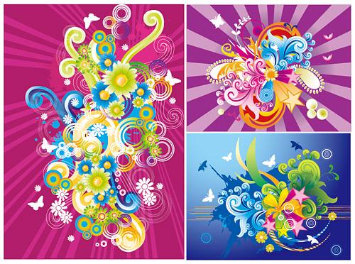 тенденция цветные иллюстрации