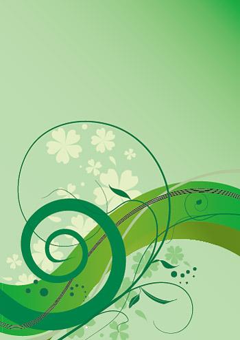 Простой зеленый шаблон