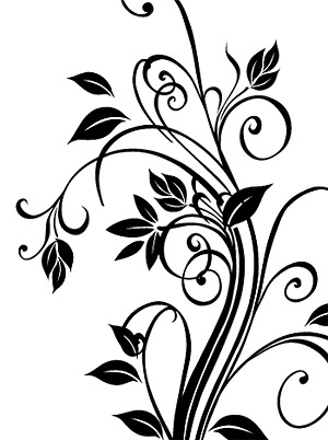 วัสดุเวกเตอร์ลวดลายขาวดำที่สวยงาม