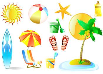 Летом пляж Отдых продукты