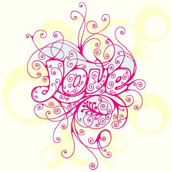 material de vector de patrón del amor