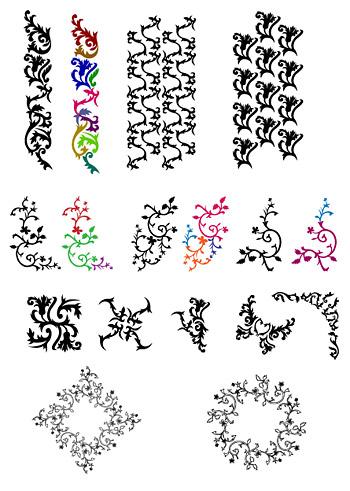 Tendencia práctica patrón vector material-2