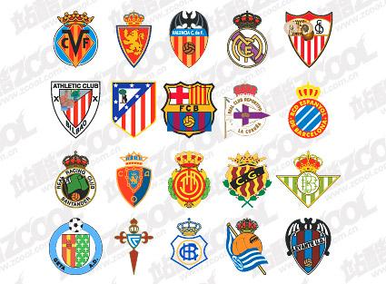 スペインのサッカー クラブのロゴ