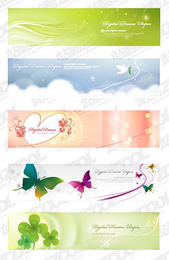 Sonhos banner vector material