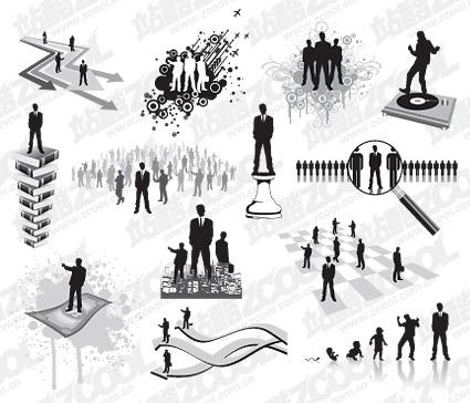 Una variedad de negocios figuras en imágenes vectoriales material