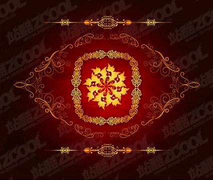 Chinês ouro lindos padrões