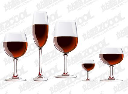 Красное вино очки