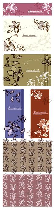 Bunga-bunga yang dilukis tangan-gaya