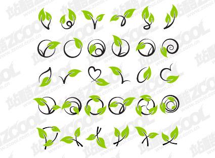ベクトル籐植物素材