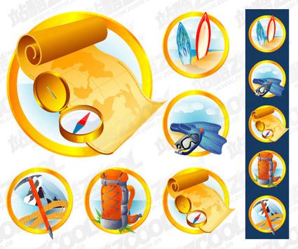 Icono al aire libre de suministros de material de vectores