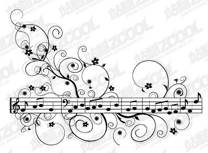 Material de vetor de padrão de música