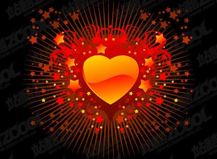 Сердце образный шаблон Crystal стиль