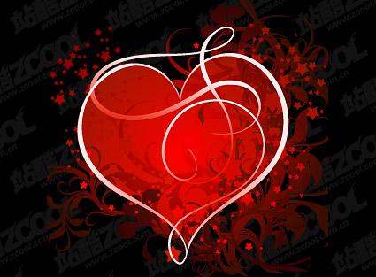 La tendance du matériel de vecteur de motif en forme de cœur