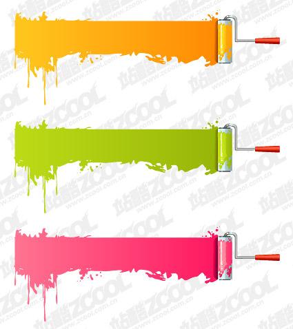 Вектор краской кисть материал