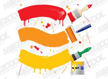 -2 Material de pincel de pintura vectorial