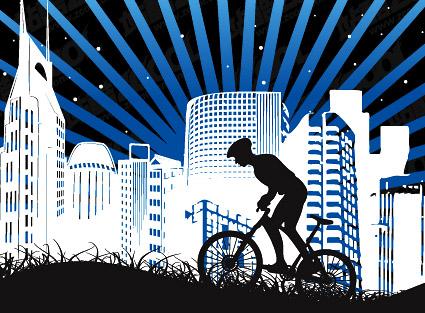 เมือง cycling วัสดุ