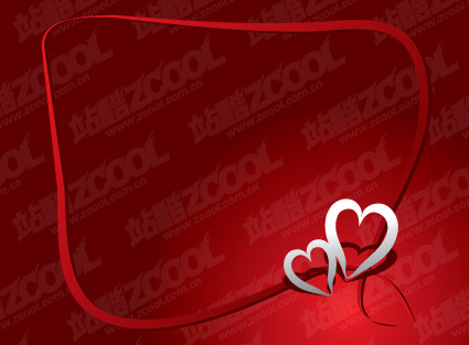 シンプルなシルバー ハート型ロゴのベクター素材