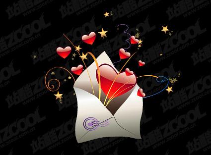 Verpackt in einem Umschlag der Liebe