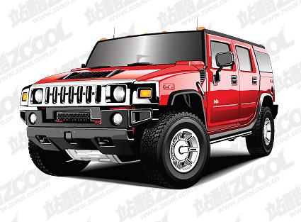 Hummer-Fahrzeug-Vektor-material