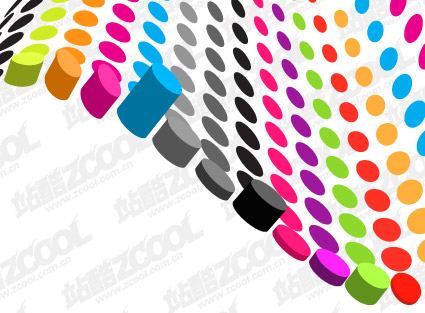 円筒カラー 3次元ベクトル材料