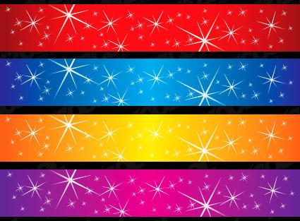 ベクトルの背景素材の輝く星