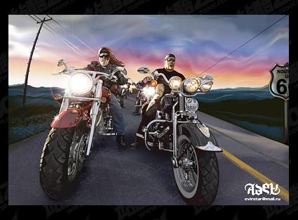 representación realista de AI de propietarios de Harley vector de material