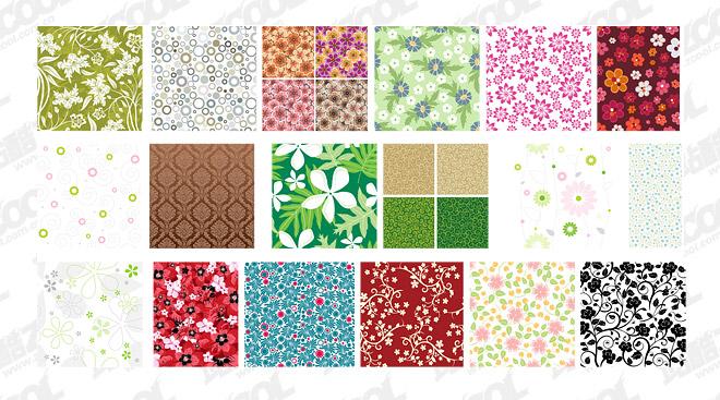 注目のタイル パターン ベクトルの背景素材-3