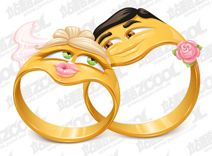 Vector cartoon estilo anillo de material