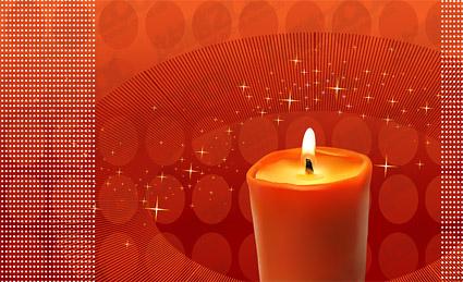 Красные свечи тема векторного материала