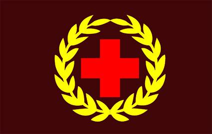 Material de vectores de emblema de Cruz Roja