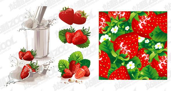 Leche fresa y material de Vectores dinámicos