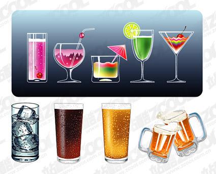 Вектор материальных прохладной летние напитки