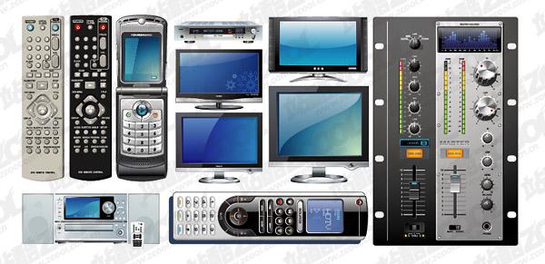 Série de vecteur multimédia téléphones matériel électrique