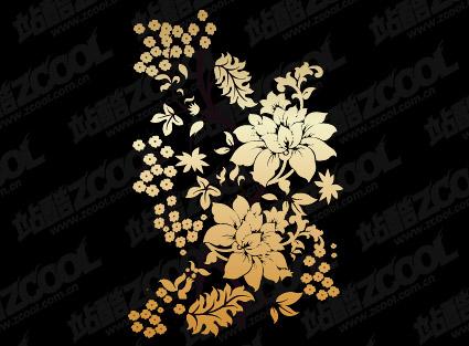 Material de vetor de padrão de flor prático
